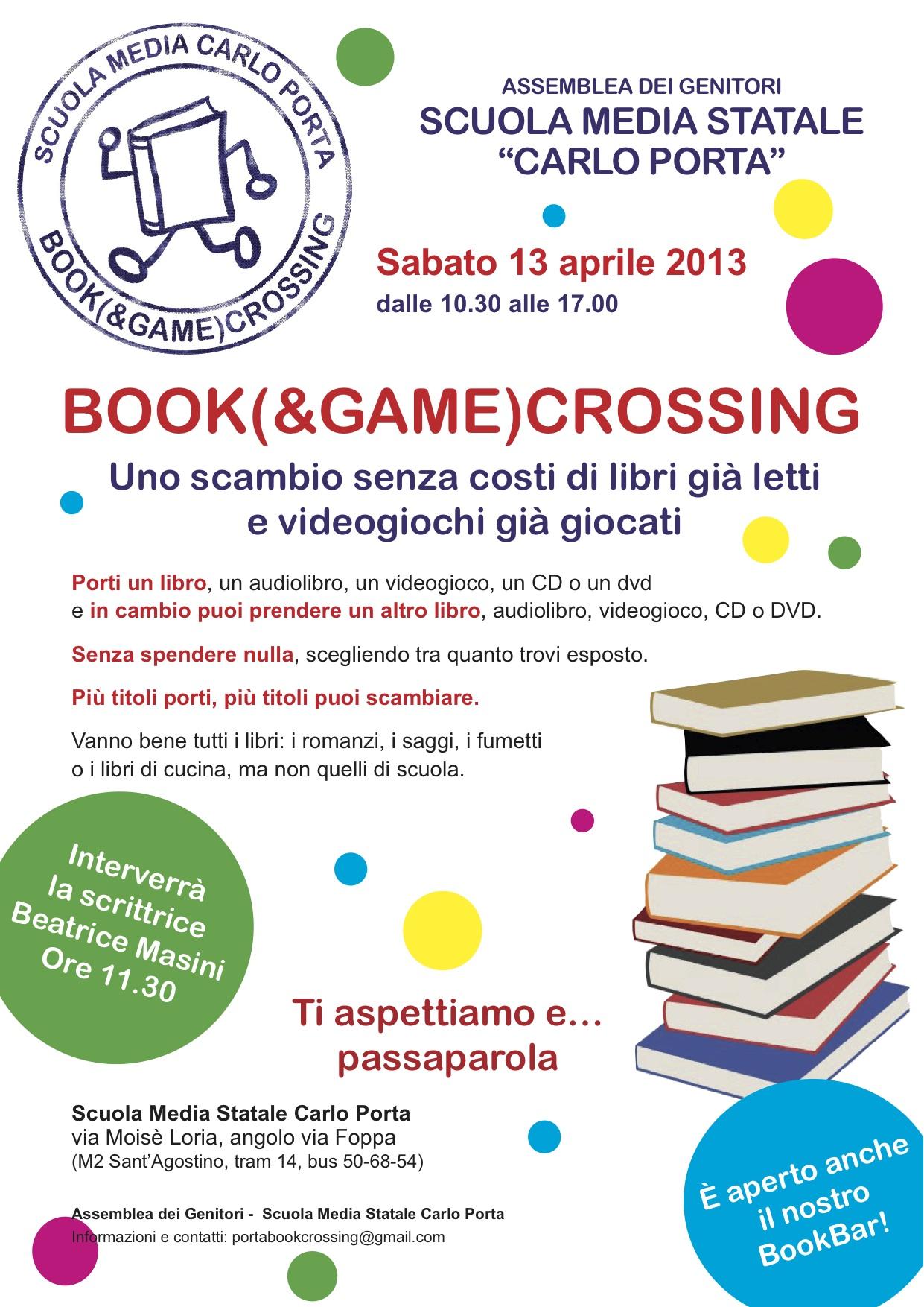 Book and game crossing alla scuola carlo porta adgruffini - Scuola carlo porta milano ...