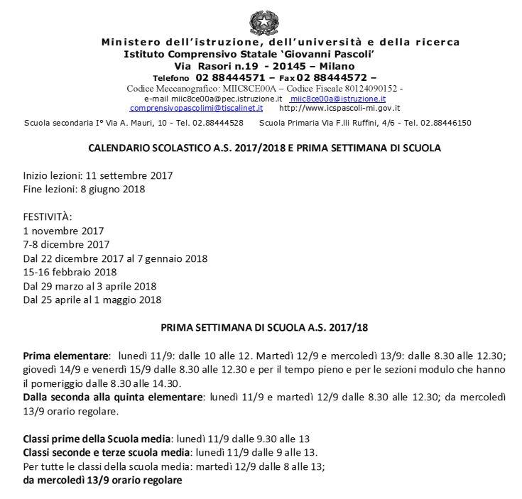 Calendario Milano.Calendario Scolastico Milano Calendario 2020